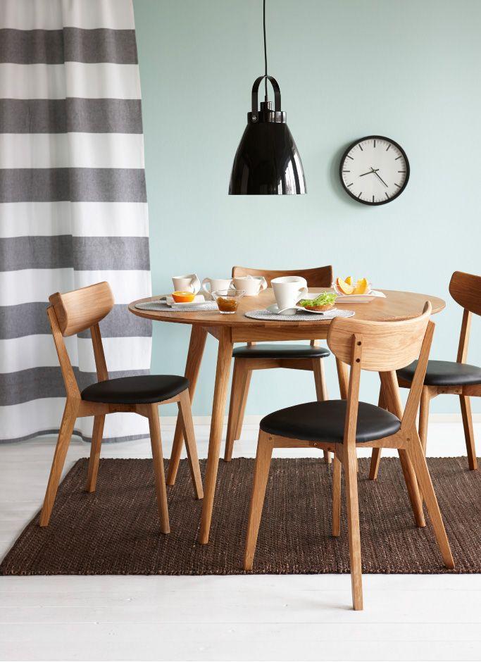 Kodin1, ruokailutila, Anno Hilja -riippuvalaisin, Yumi-ruokapöytä, Ami-tuoli, Nature-matto.