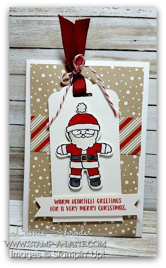 Santa Tag Card using the Notecards and the new Cookie Cutter Christmas bundle…
