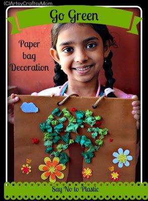 Go Green – Avoid Plastic – Craft Class via @artsycraftsymom