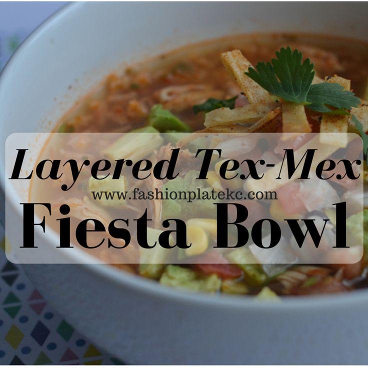 Tex-Mex Layered Fiesta Bowl Soup - FashionPlateKc