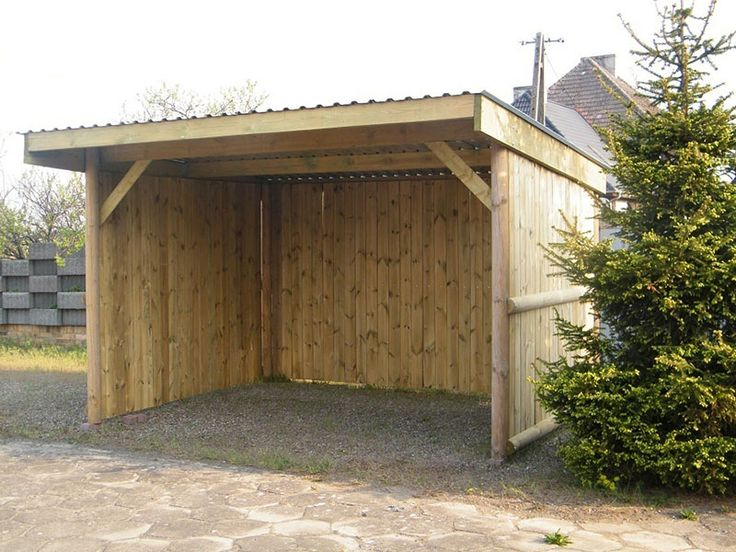 Horse Shelter Could also use sheet metal for the sides and roof, plus adding a small gate and you'd be good to go! :)