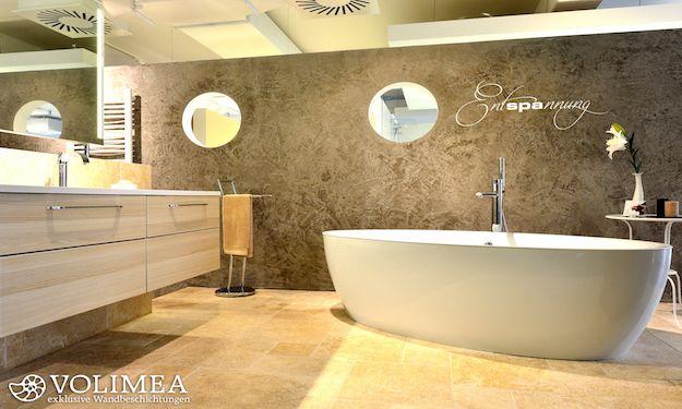 Merkwürdig Badgestaltung Mit Tapete Vorstellungskraft