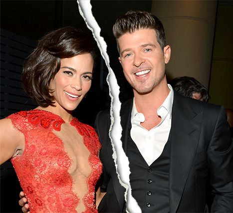 Paula Patton and Robin Thicke in January 2014
