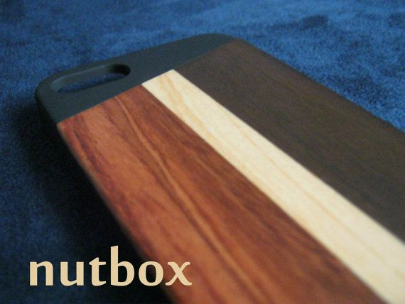 STUNNING MINIMALIST WOOD iPHONE 5 5s Case  Handcrafted by NUTBOX