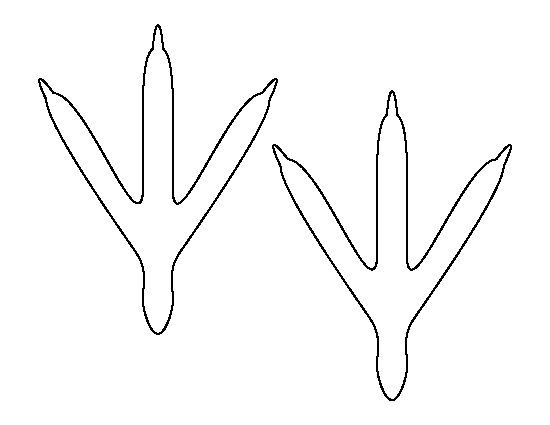 Bird feet pattern. Use the printable outline for crafts, creating stencils, scrapbooking, and more. Free PDF template to download and print at http://patternuniverse.com/download/bird-feet-pattern/