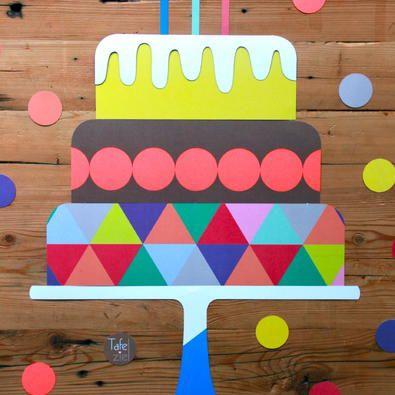 Decoratie verjaardagstaart voor onder je Tafelziel.