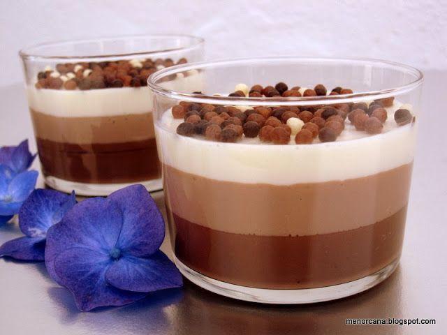 Receta VASITOS TRES CHOCOLATES para Ana en la cocina