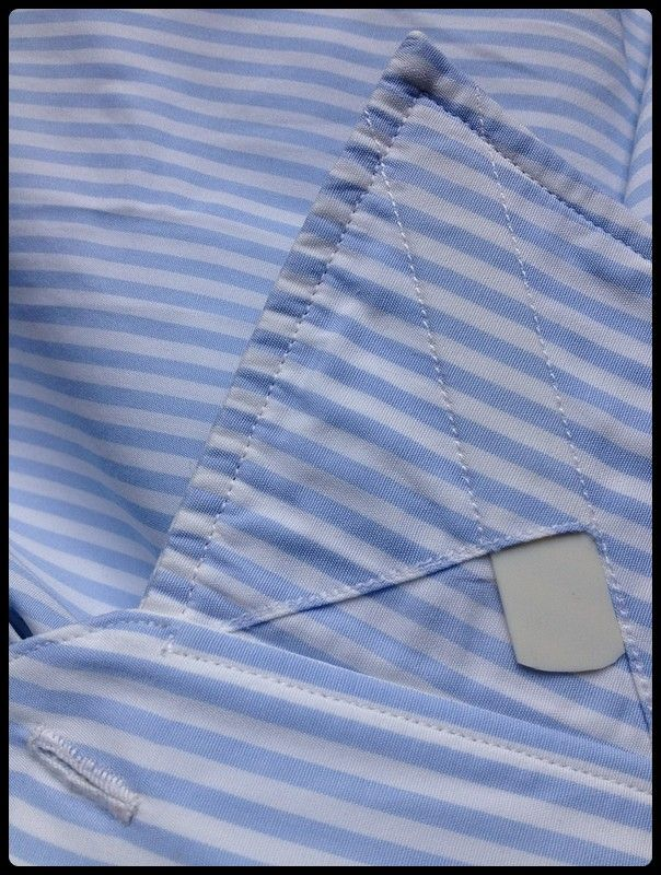 detail of a bespoke shirt - collar stays