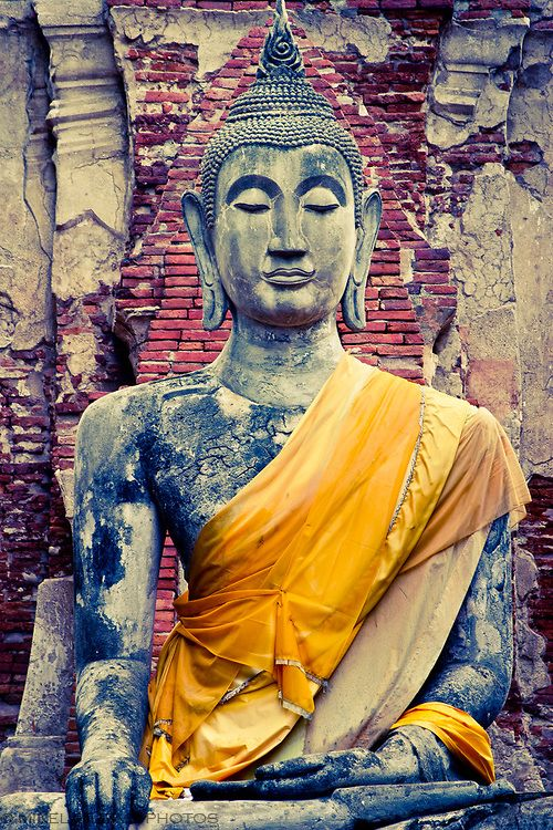 Buddha statue. Ayutthaya, Thailand
