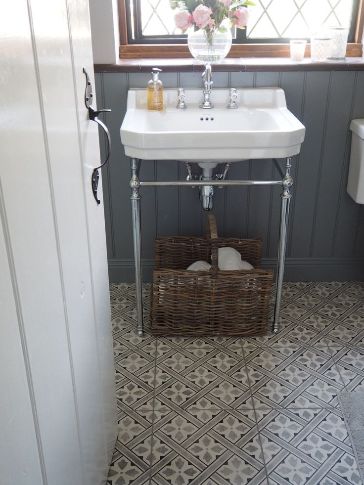 Laura Ashley Mr Jones floor tiles and Victorian Plumbing basin