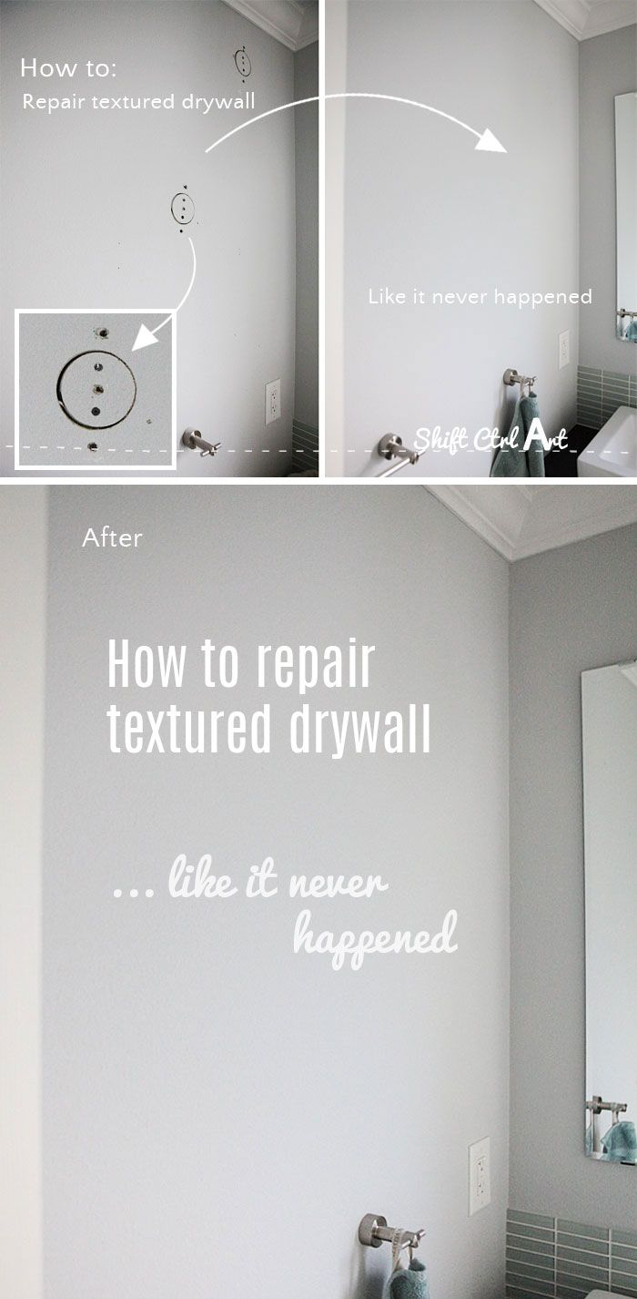 How to #repair #textured #drywall repair like it never happened