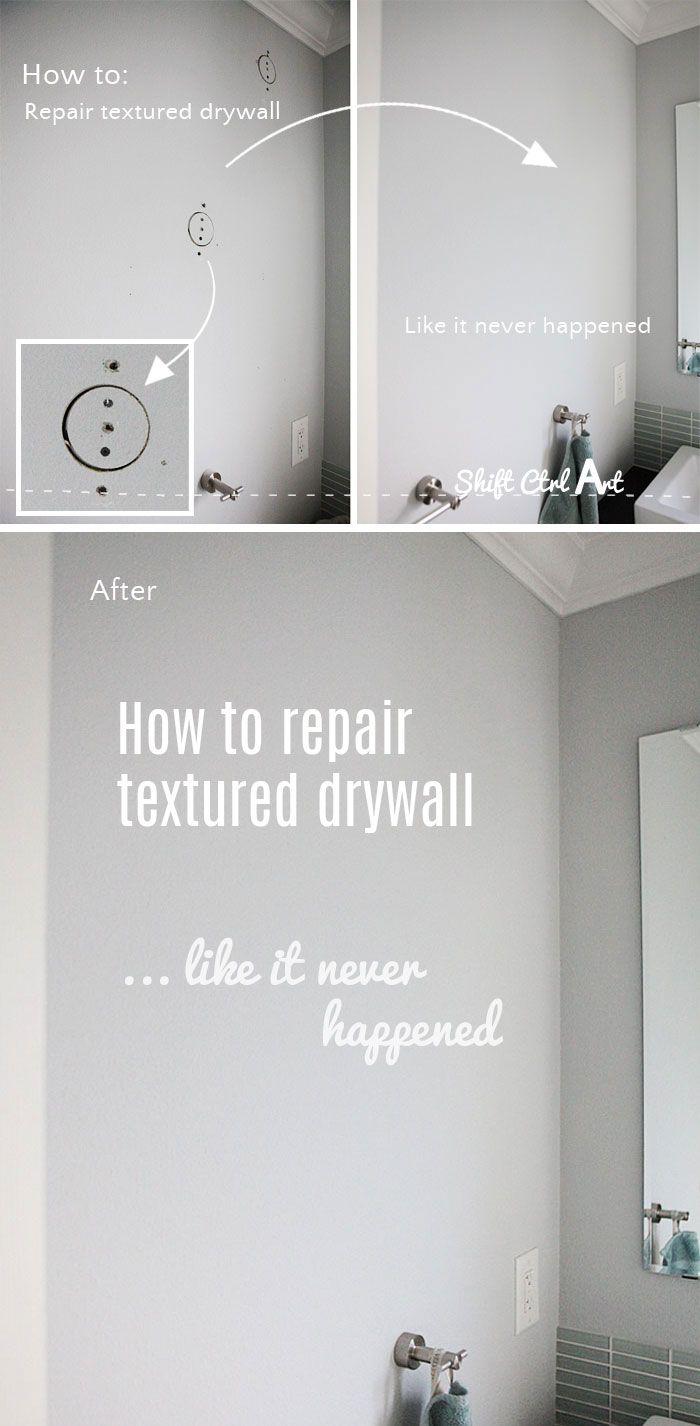 How to #repair #textured #drywall repair like it never happened