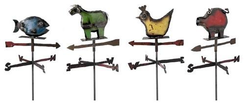 Farm Animal Weather Vanes eclectic garden sculptures