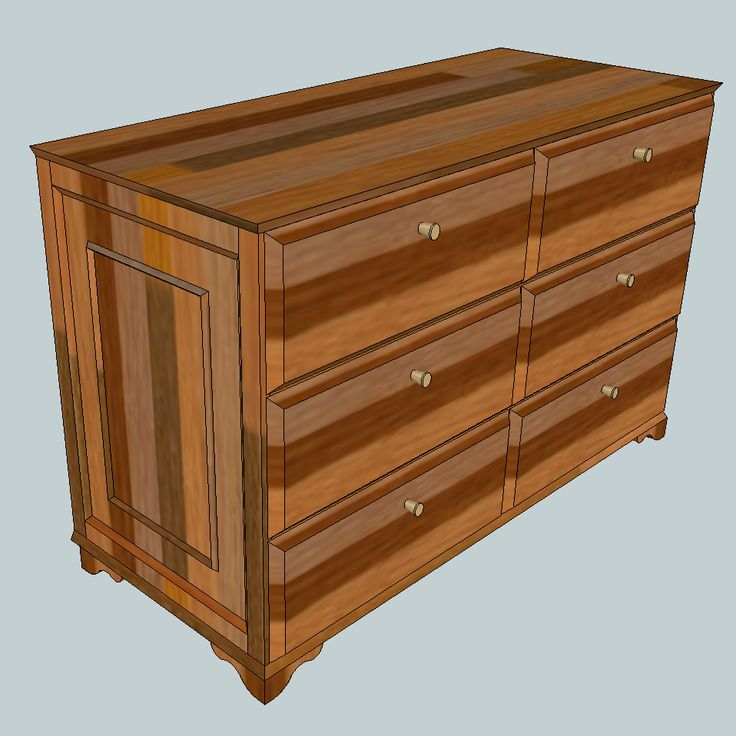 Dresser - Kommode --> Metric design (width: 1275mm, height: 820mm, depth: 550mm); planed boards with the depth 18mm.