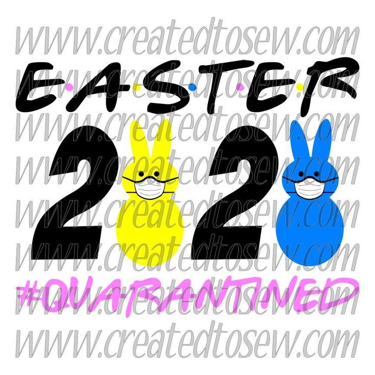 Easter 2020 Quarantined SVG File How to make stickers