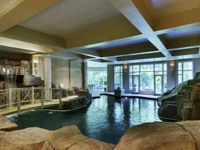 Fab indoor pool w/waterfall & slide~