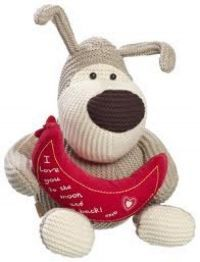 """£19.99 - Boofle Large Plush To The Moon And Back  Large 12"""" Boofle Plush Toy. Boofle is a snugglesome pup that is loveable and cuddly and a best friend for everyone. Holding a moon that says """"I love you to the moon and back!"""""""