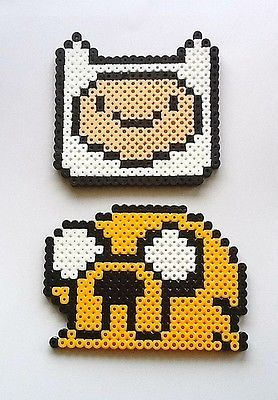 Adventure Time Finn Jake Set of2 Perler Bead Sprites | eBay