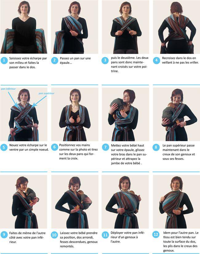 3b020096eed Voici la sélection d écharpe de portage bébé pour vous     . Echarpe  portage noeud