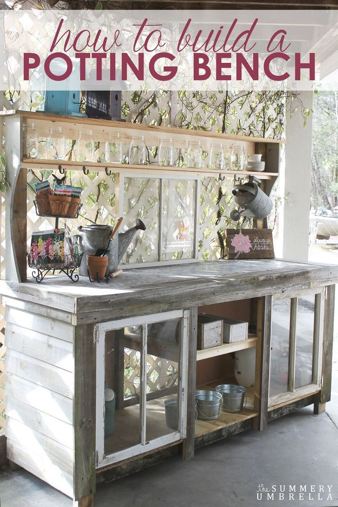 How+to+Build+a+Reclaimed+Wood+Potting+Bench