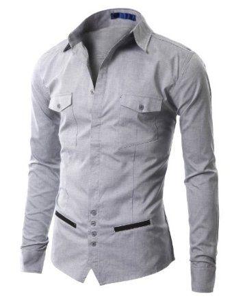 Unique Design Men Clothing | Doublju Mens Unique design Longsleeve Dress Shirts (AAK01): Amazon.co ...