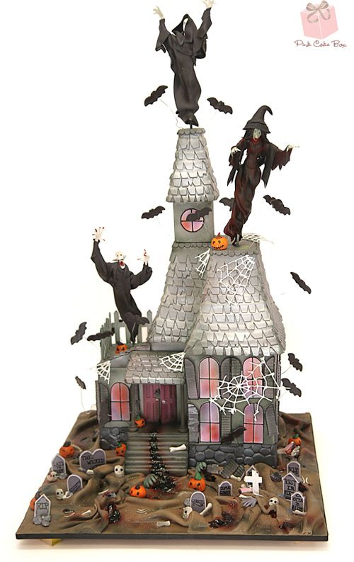 Happy Halloween!!! Haunted House Cake! by Pink Cake Box in Denville, NJ.