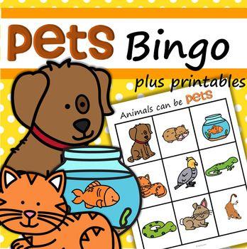 Dieses Bingo-Spiel zum Thema Haustiere ist eine unterhaltsame Art, Vorschulkindern die Namen einiger …   – teacher, teacher