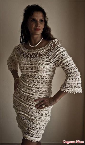 Приветствую Всех желающих связать восхитительное платье Оливия от бразильского дизайнера Ванесса Монторо.. Обсуждение было здесь http://www.stranamam.ru/ в дневнике у Леночки..