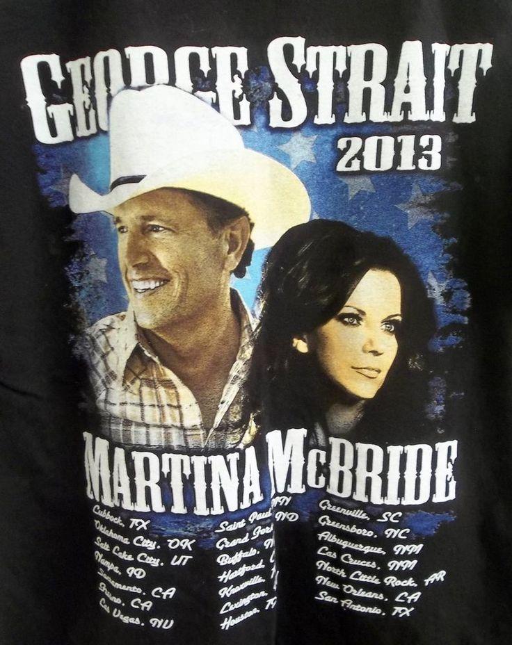 George Strait Martina McBride The Cowboy Rides Away Tour T-Shirt Adult M Medium