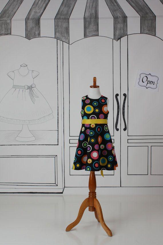 Girls Size 5 Modern Print Sleeveless Fit and Flare by Zuffolo
