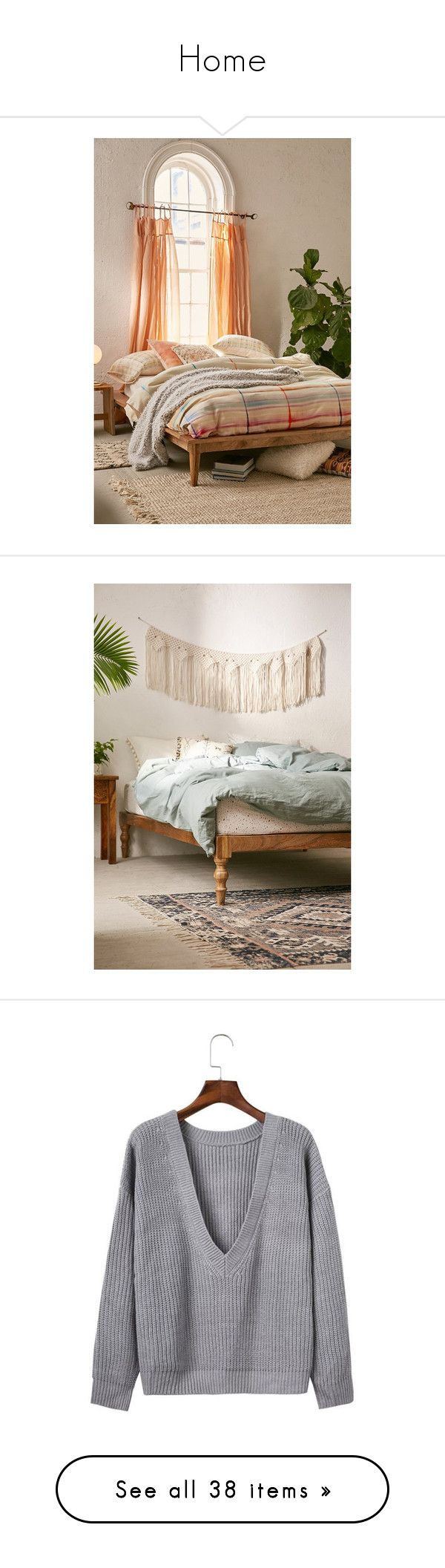 Rustic wood platform bed -  Home By Papillon Mjulia Liked On Polyvore Featuring Home Furniture