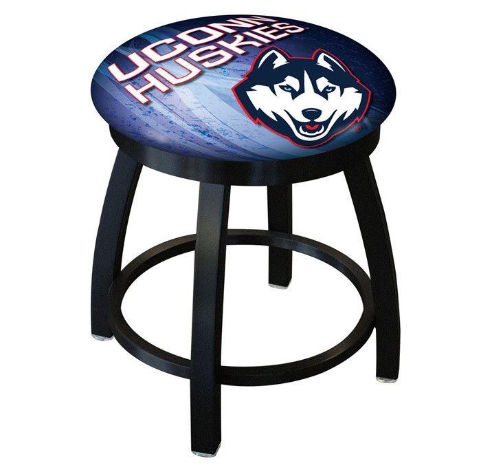 UConn Huskies D2 Black Swivel Vanity Stool. Visit SportsFansPlus.com for details.
