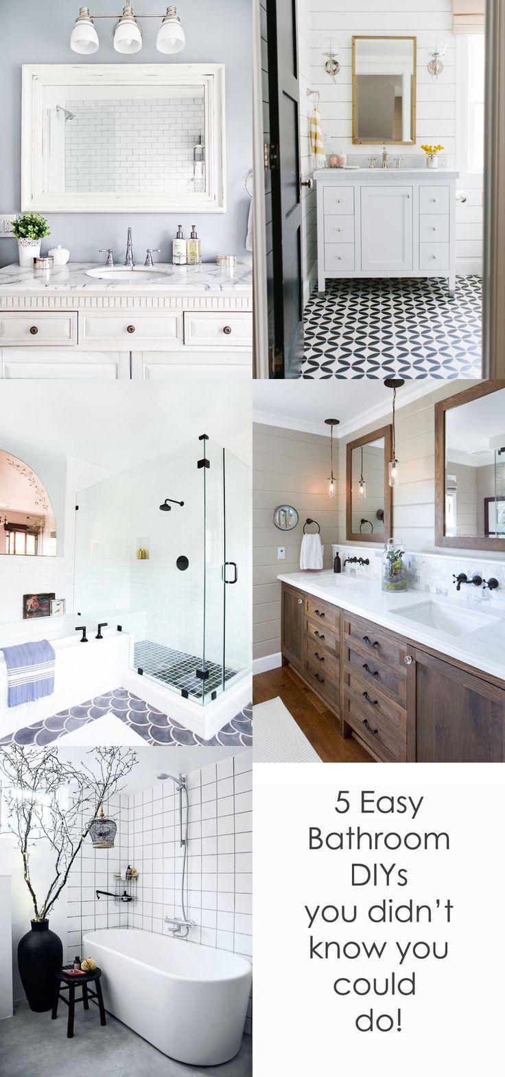 5 Easy Diy Bathroom Upgrades That Will Surprise You Modernize Simple Bathroom Remodel Inexpensive Bathroom Remodel Bathrooms Remodel