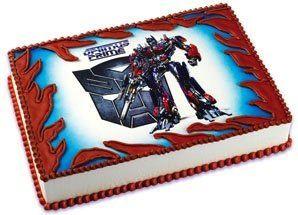 niceTransformers Optimus Prime Edible Cake Topper