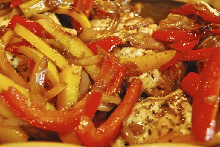 """""""Point-less"""" Meals: Roast Chicken with Balsamic Bell Peppers...Wendy Said: This was  gorgeous!!!"""