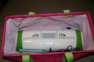 thirty one bags make great Cricut carriers!