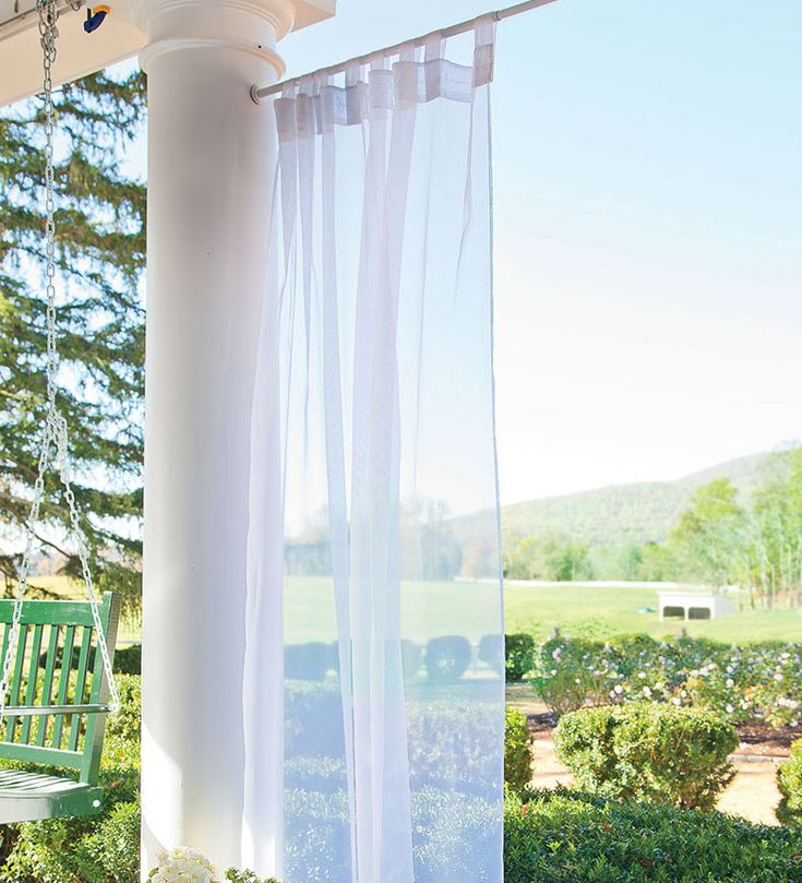 Outdoor Velcro Curtains Tab Sheer Panel