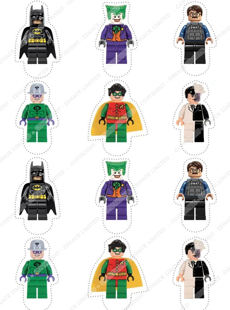 Cakeshop 12 x PRE-CUT Lego Batman Stand Up Edible Cake Toppers - Premium Wafer Paper: Amazon.co.uk: Kitchen & Home