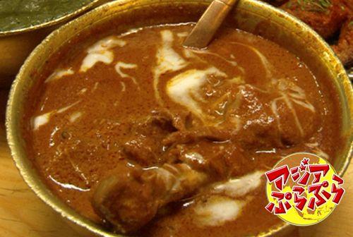 インド編もいよいよクライマックス!チキンとバターをメインとした濃厚なカレーです。サイバーシティにある「ピンドバルッチ」は、日本人駐在委員がおもてなしに使う、高級インド料理レストラン。この他にもたくさんカレーが出てきて、ジュンジ、ビックリ! - 142件のもぐもぐ - ムルグ・マッカーニ(鶏肉) by 高田純次のアジアぷらぷら