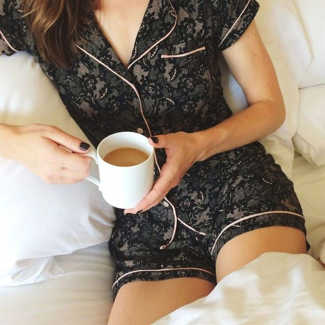 Black lace pajama. OK I LVE THIS PJS BUT WHEN I TAPPED ON IT IT WOULD LET ME SEE…