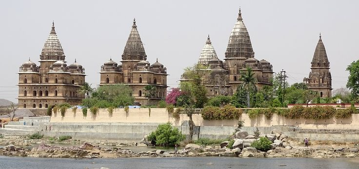 Chattris on the Banks of River Betwa in Orchha Madhya Pradesh. There are total of 14 Chattris.