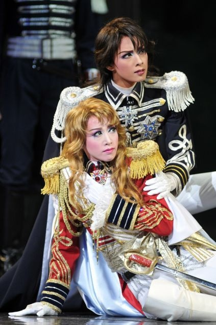 永遠のふたり... A still from a Takarazuka revue play, an all-female cast only kind of theater. Shows range from heroic melodramas and classical plays to video game adaptations.