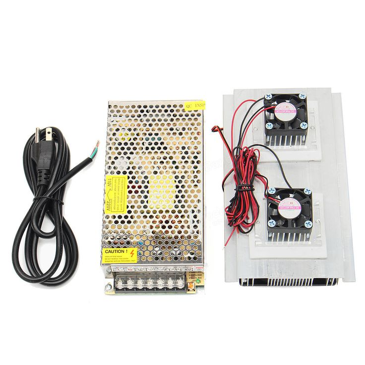 120W 12V 15A DIY Semiconductive Electronic Refrigerator Thermoelectric Cooling System Double Fan Sale - Banggood.com