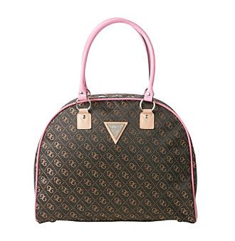 GUESS Woodhaven Dome Brown Travel Tote    at www.bonton.com