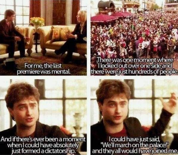 How to seize a moment. Love Daniel Radcliffe.