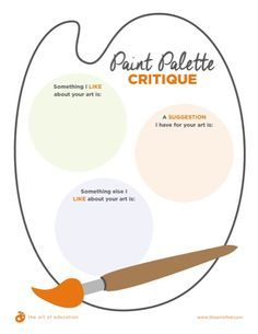 Effective Strategies for Formative Assessment - Paint Palette Critique - Art Criticism - Writing in the Art Room - Self-Assessment -