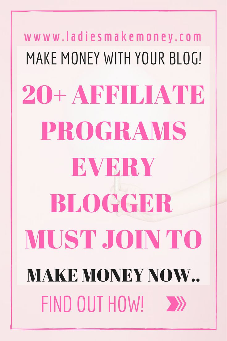 Earn Money Online Here is a list of 20 affiliate program every blogger must join to make money online right now. Make money with affiliate marketing. Learn how to promote affiliate links to boost blog income. Here's Your Opportunity To CLONE My Entire Proven Internet Business System Today!