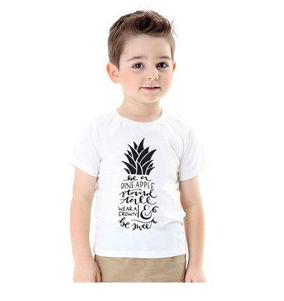 Cool T-Shirt - BabyKidz.    Hvid drenge t-shirt med tryk. Super til  f.eks. jeans og matcher det meste tøj.    Se mere på www.babykidz.dk