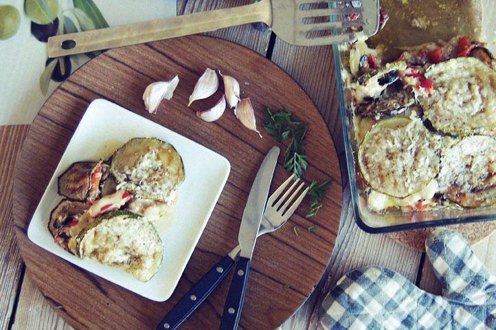 Lasagne van courgette en tonijn