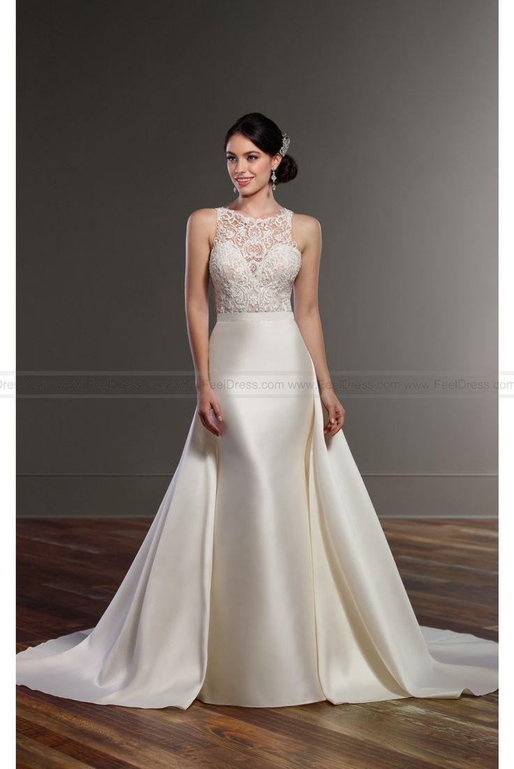 Martina Liana Detachable Overskirt Wedding Dress Separates Style Brody + Selene   + Opal